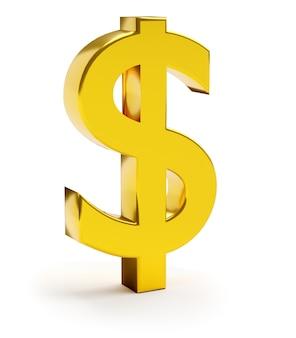 Símbolo de finanças e negócios. cifrão dourado