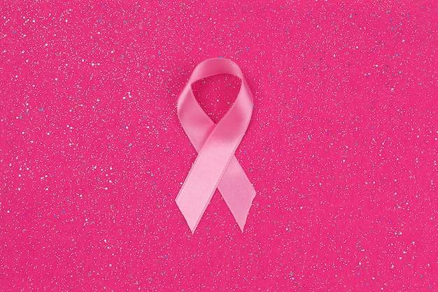 Símbolo de fita rosa de câncer de mama de câncer de mama