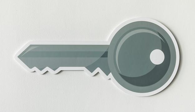 Símbolo de ícone de acesso chave de segurança