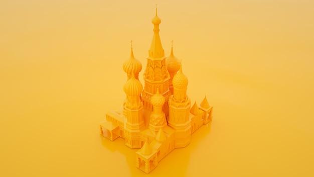 Símbolo de moscou - catedral de são basílio, rússia. renderização 3d.