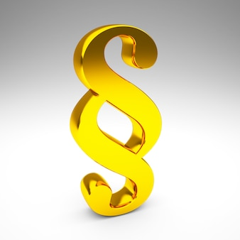 Símbolo de parágrafo dourado