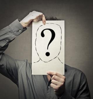 Símbolo de pergunta de identidade