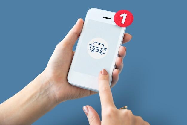 Símbolo de sinal do ícone de serviço de carro