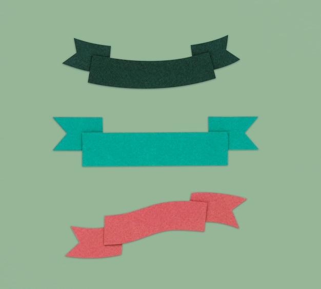 Símbolo de sinal gráfico decoração de fita