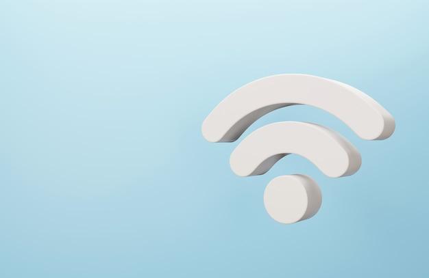 Símbolo de wi-fi sem fio 3d