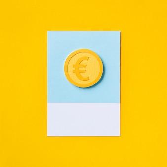 Símbolo do dinheiro europeu euro moeda