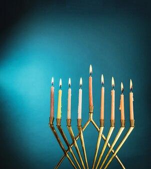 Símbolo do feriado judaico hanukkah menorah hanukkah