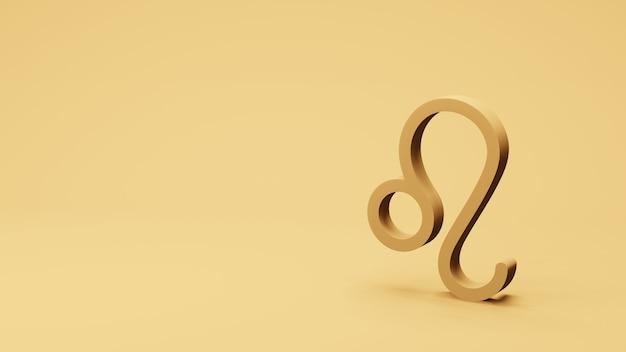 Símbolo do zodíaco leo assina renderização 3d