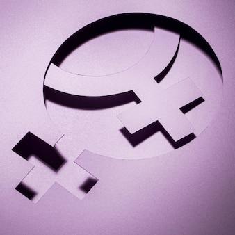 Símbolo feminino abstrato do dia da mulher