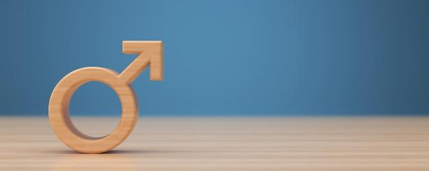 Símbolo masculino em um fundo azul