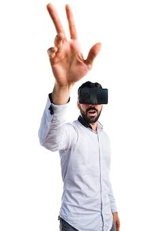 Simulação de ponto de interface realidade invisível