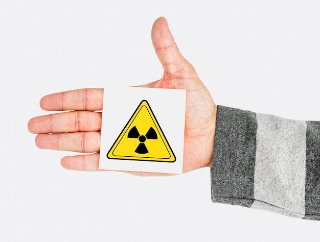 Sinal de advertência de segurança de risco radioativo