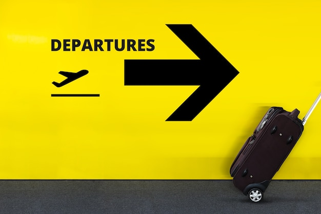 Sinal de aeroporto com o ícone do avião