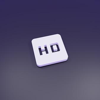 Sinal de alta definição de renderização 3d