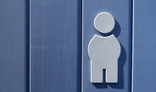 Sinal de banheiro masculino