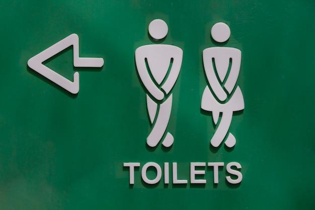Sinal de banheiro no parque