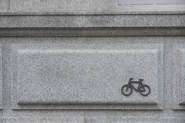 Sinal de bicicleta estacionamento