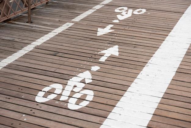 Sinal de estrada de pista de bicicleta