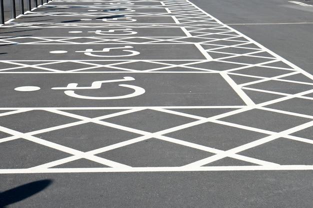 Sinal de handicap desativado para estacionamento