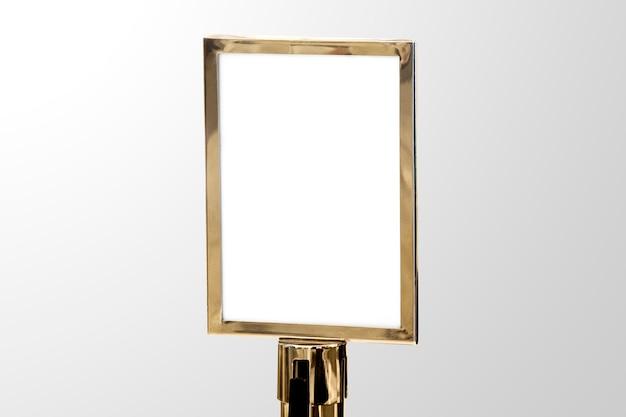Sinal de luxo dourado para eventos