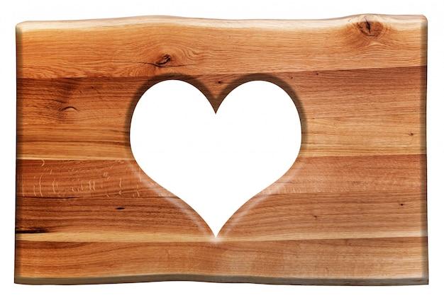 Sinal de madeira com um coração
