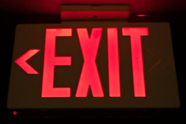 Sinal de saída de emergência, útil para conceitos