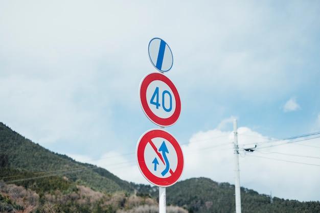 Sinal de trânsito e símbolo