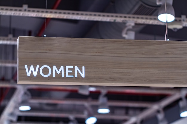 Sinal do departamento de mulheres