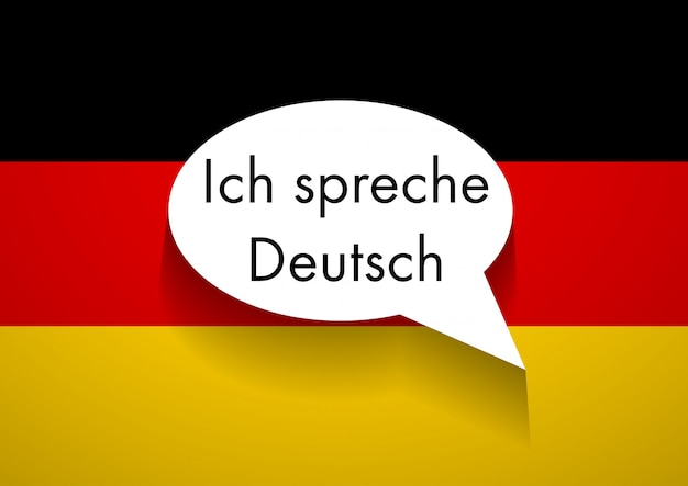 Sinal, falando, alemão