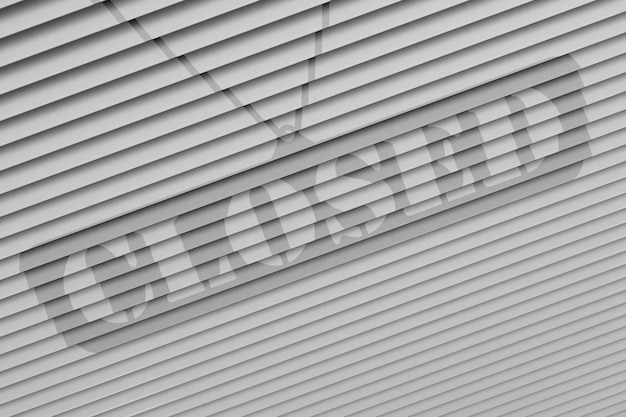Sinal fechado - ilustração 3d fechada da loja de varejo.