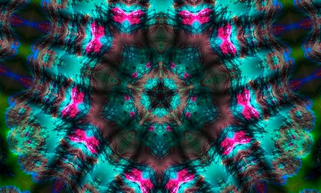 Sinal místico caleidoscópio fundo forma de nó celta, verde, sinal de magia negra