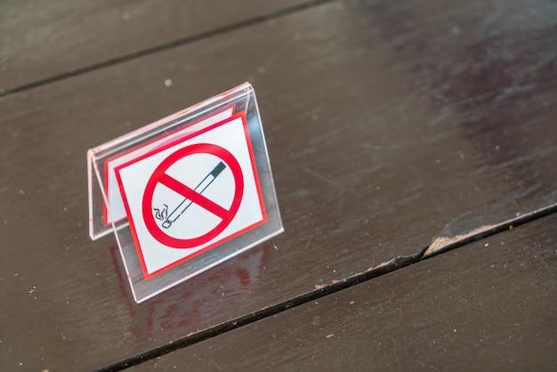 Sinal não fumadores