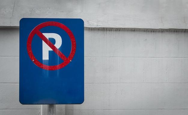 Sinal para não estacionar