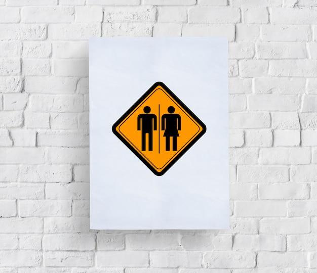 Sinalização wc wc mulher homem