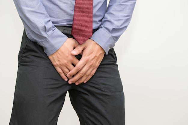 Sintomas de câncer de próstata, uma pequena glândula em forma de noz em homens que produz o fluido seminal que nutre e transporta espermatozóides