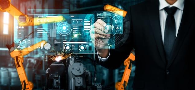 Sistema avançado de braço de robô para a indústria digital e tecnologia robótica de fábrica