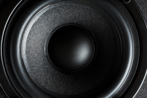 Sistema de alto-falantes multimídia close-up do alto-falante