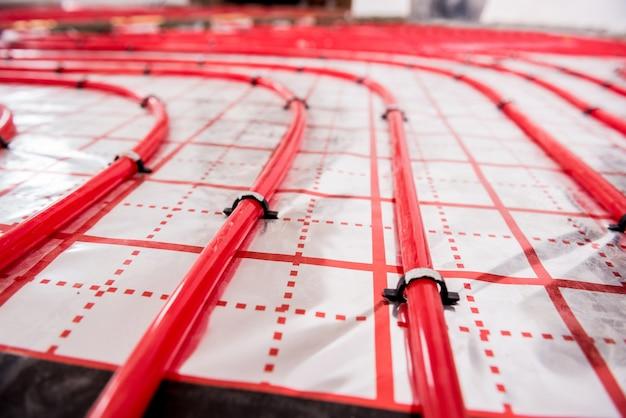 Sistema de aquecimento de água e piso radiante