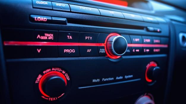 Sistema de áudio no carro rádio no carro