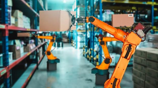 Sistema de braço de robô inteligente para armazém inovador e tecnologia digital de fábrica