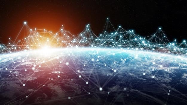Sistema de conexões e troca de dados na renderização 3d do planeta terra