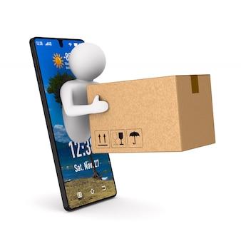 Sistema de entrega. renderização 3d isolada