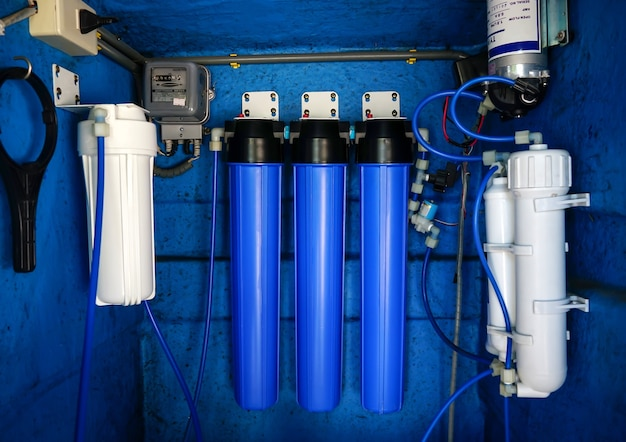 Sistema de filtro de água ou purificação de água por osmose uso comercial