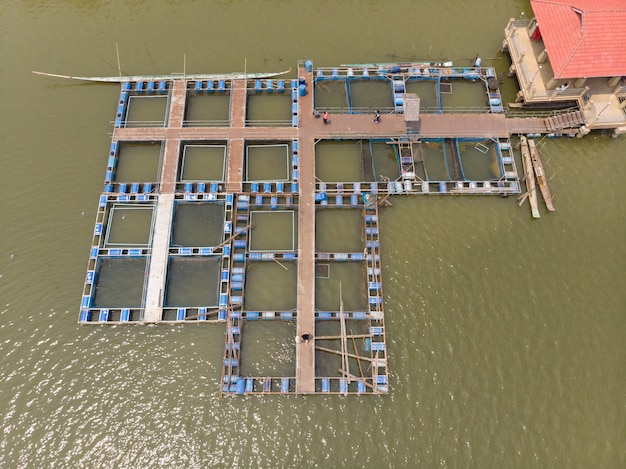 Sistema de gaiola para piscicultura