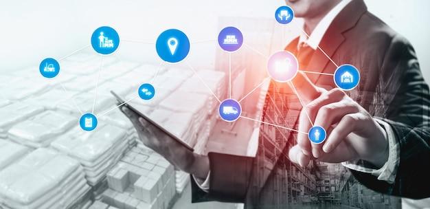 Sistema de gerenciamento de armazém inteligente com tecnologia inovadora de internet das coisas