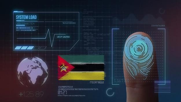Sistema de identificação de digitalização biométrica por impressão digital. nacionalidade de moçambique