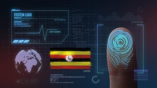 Sistema de identificação de digitalização biométrica por impressão digital. nacionalidade do uganda