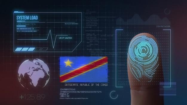 Sistema de identificação de digitalização biométrica por impressão digital. república democrática do congo nacionalidade