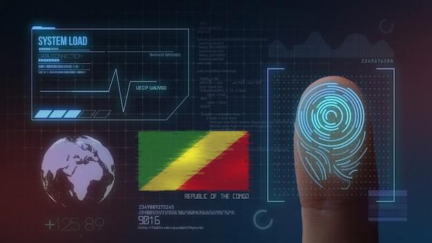 Sistema de identificação de digitalização biométrica por impressão digital. república do congo nacionalidade