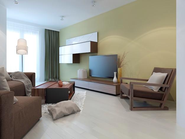Sistema de parede em sala de estar moderna